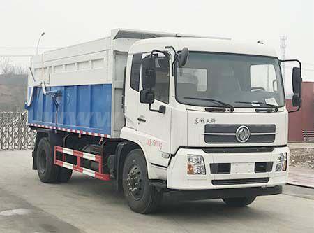 东风天锦翼展密封自卸式垃圾车帝王环卫牌HDW5160ZDJD5型压缩式对接垃圾车